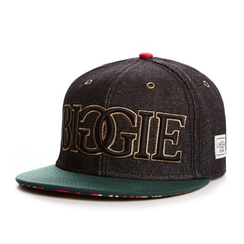 Cayler And Sons - Casquette Snapback Homme Juicy Cap - Black Denim/Green/Red