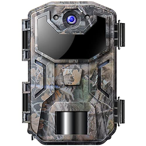 Cámara de Caza Nocturna 20MP 1080P con Diseño Impermeable IP66 Cámara de Fototrampeo con Detección de Acción LED IR Sin Brillo para Sequimiento Caza de Fauna