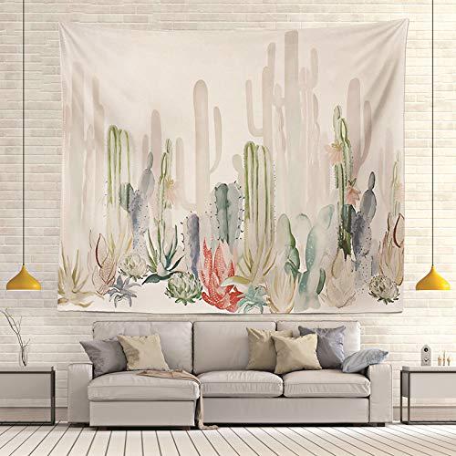 mmzki Moda Europa y los Estados Unidos tapicería Caliente Colgando en la Pared tapicería tapicería Decorativa Cactus Tapiz Toalla de Playa cojín R005-R 130 * 150cm