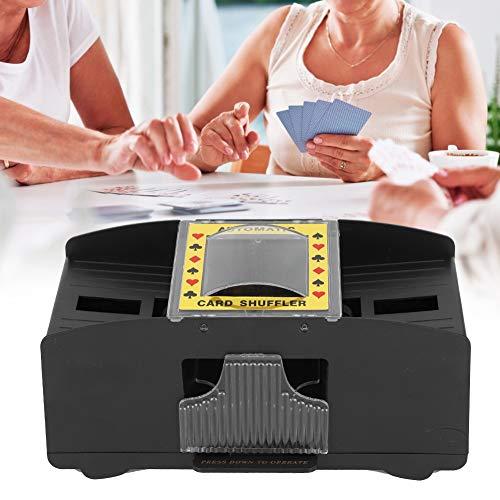 Kartenmischer, elektronischer automatischer Kartenmischer Batteriebetriebene Mischmaschine arbeitssparendes 2 Deck Kartenmischwerkzeug Zubehör für Poker Rommé usw elektronische Mischmaschine