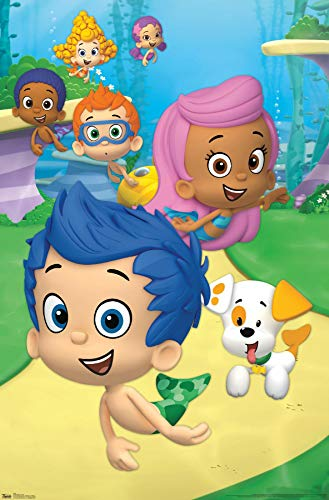 """Trends International Nickelodeon Bubble Guppies - Group Wall Poster, 22.375"""" x 34"""", Premium Unframed"""