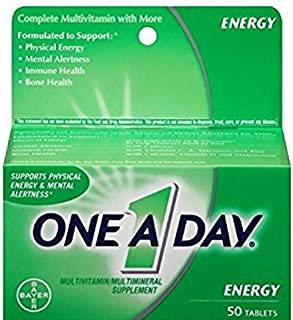 One-A-Day Energy Multivitamin, 50-Count - Pack of 2