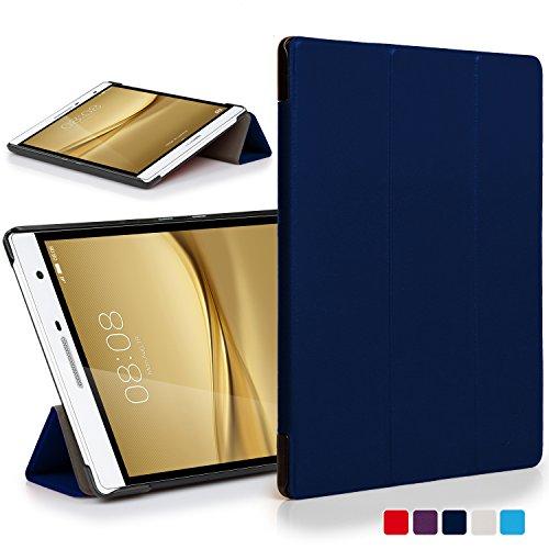 Forefront Cases® Huawei MediaPad T2 7.0 Pro / M2 7.0 Hülle Schutzhülle Tasche Smart Case Cover Stand - Ultra Dünn mit R&um-Geräteschutz & intelligente Auto Schlaf/Wach Funktion (DUNKEL BLAU)