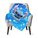 Stitch Ba-by Blanket Super Soft and Warm Nursery Plush Blankets 30 X 40 Inch, Receiving Blankets for Couch Or Bed