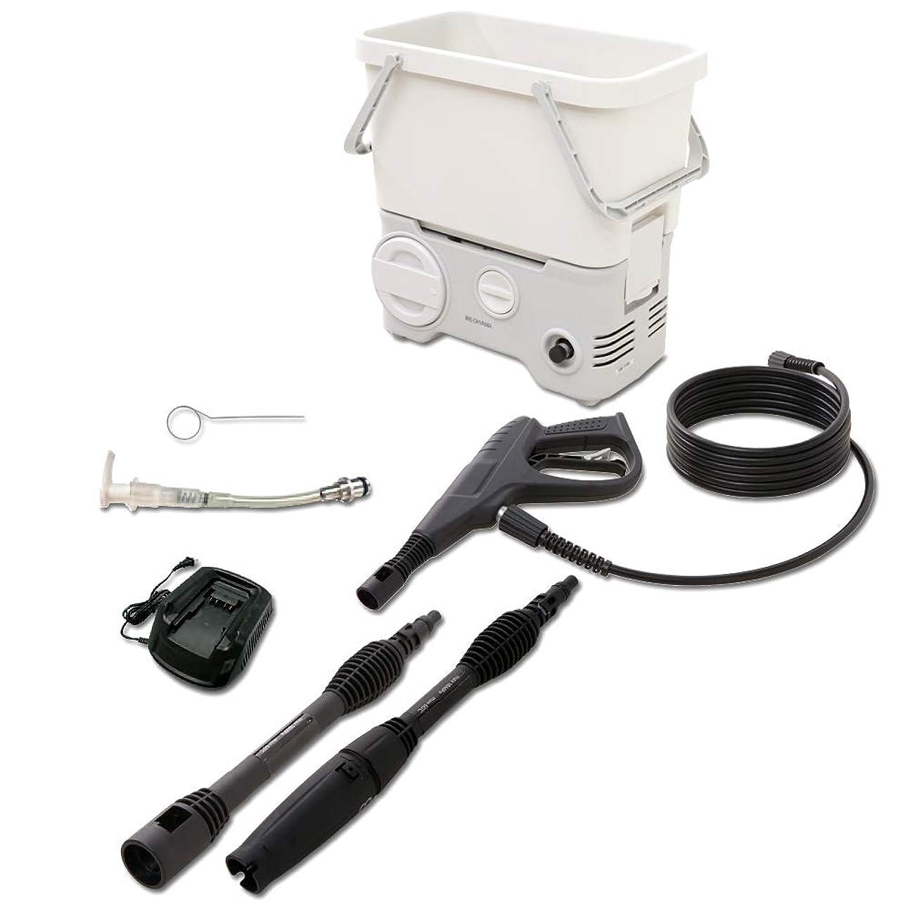 コットン脊椎早熟アイリスオーヤマ 充電式 高圧洗浄機 タンク式 場所を選ばす使用可能 SDT-L01N