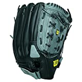 Wilson A360 Baseball Glove, Grey/Black/White, Right Hand Throw, 12.5-Inch