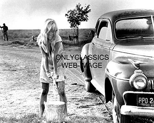 OnlyClassics Cool Hand Luke Sexy Actress Joy Harmon Washing CAR All Wet 8X10 Photo Pinup Girl