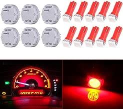ECCPP X27.168 Stepper Motors Instrument Speedometer Gauge Cluster (6 motor kit+10Pack Red T5 Wedge Bulbs)