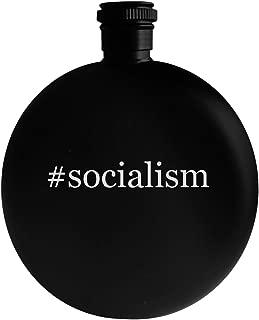 #socialism - 5oz Hashtag Round Alcohol Drinking Flask, Black