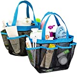 YuCool 2 Pack Portable Mesh Shower Caddy with 8 Storage Pockets, Hanging Tote Bath Organizer Shower Organiser...