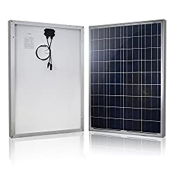 solar panel that has pre-drilled holes at the back.