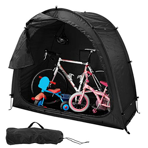 Damai Outdoor Bike Storage Shed Tent Bicycle Garden Pool Storage Shed with Carrying Bag All Season Weatherproof Reusable Bike Cave,Black