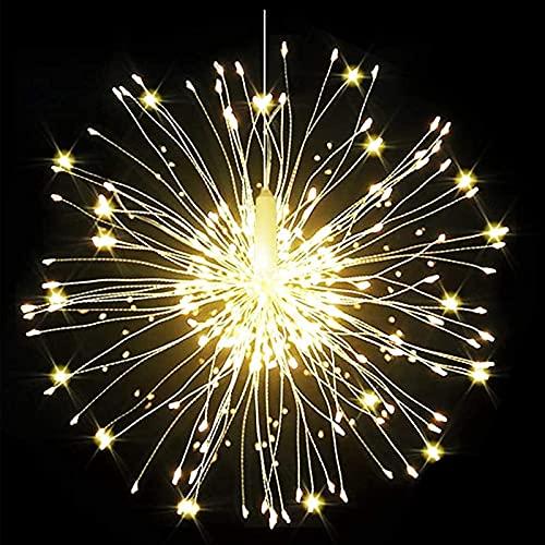 Luces Fuegos Artificiales Luces De Hadas LED Luz De Fuegos Artificiales Fuegos Artificiales Explosivos Luces De Hadas con Luces De Hadas Navideñas 200 Ledes, 8 Modos
