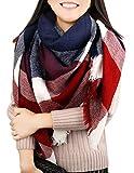 Women Blanket Scarf Winter Warm Tartan Plaid Shawl Wrap Large Check Square Scarves