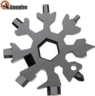 Amenitee 18-in-1 Snow Multi-Tool – Easy N Genius - Saker 18-in-1 Stainless Steel Snowflakes Multi-Tool (Black)