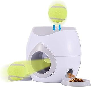 Morningtime Lanzador Automatico De Pelotas para Perros, Juguetes Interactivos para Mascotas Premio De La Comida De Perro Máquina, Incluye 1 Pelotas Tenis