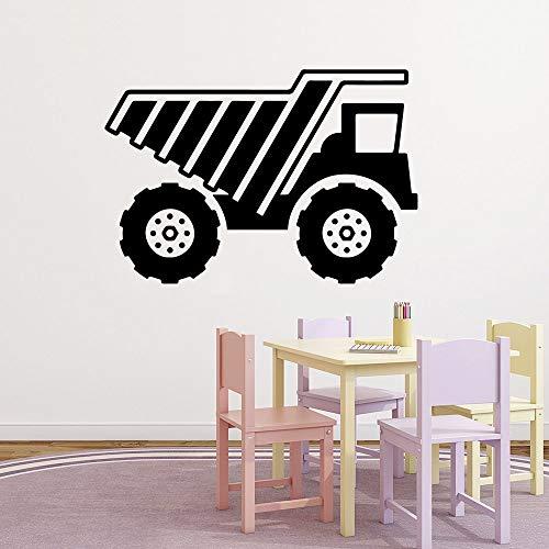 Creativo camión tallado pegatinas de pared calcomanías sala de estar dormitorio pegatinas autoadhesivas pegatinas de pared a prueba de agua A3 57x83cm