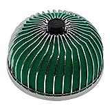 Filtro de aire universal de 76 mm para coche, entrada limpia, cono redondo, filtro de entrada de aire para coche, kit de inducción de cabeza de hongo (color, verde), verde (color: verde)