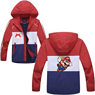 285fefb6f08d1 Super Mario Pullover Manteau Confortable à Capuchon pour Garder la Veste  ouatée au Chaud imprimée de