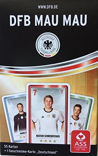 DFB Offizielles Kartenspiel Mau Mau Deutsche Nationalmannschaft Euro 2016