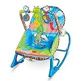 YUYAXBB Babywippe Elektrisch, Tragbare Babyschaukel Verstellbar, Mit Musik Und Vibration, Mit Spielzeuge, Ab Geburt Bis 10 Kg Verwendbar, Blue