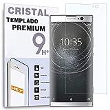 REY - Protector de Pantalla para Sony Xperia XA2 Plus - XA2+, Cristal Vidrio Templado Premium