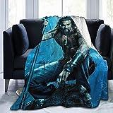 Homedecora Jason Momoa Ultra-Soft Micro Fleece Blanket Soft and Warm Digital Printed Blanket Flannel Throw Blanket for Children/Adults (60' X 50')
