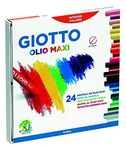 Giotto 2931 00 - Olio Öl-Pastellkreiden, 11 mm, Pappetui, 24 Farben sortiert