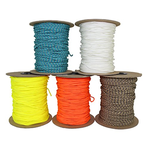 SGT KNOTS All Purpose Spectra Cord - Speargun Line for Gear Bundles, Boot Laces, Camping & More (2.2mm x 100ft Coil, White)