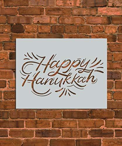 Happy Hanukkah Stencil Template - Reusable Stencil - INNOVO Stencils (8.5' x 11')