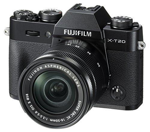 Fujifilm X-T20 Mirrorless Digital Camera w/XC16-50mmF3.5-5.6 OISII Lens-Black