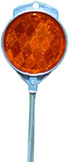 Accuform Signs FRW963OR Ground Stake Reflector (Driveway Marker), 2-Sided Plastic Reflector Mounted onto 48