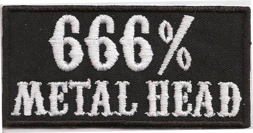 666 Metal Head Heavy Thrash Death Metal Rocker Kutte T-shirt Aufnäher Patch