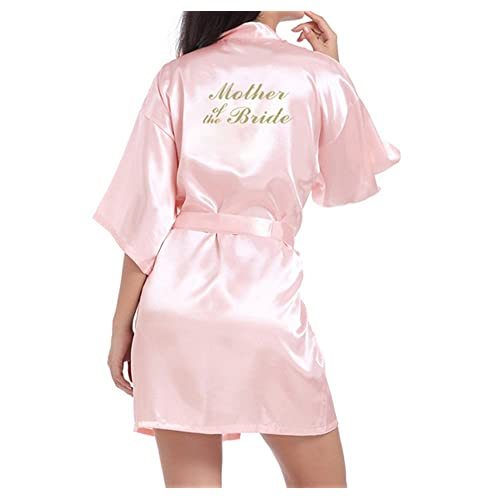 9b03865b5e4 WPFING Bride Robes Satin Bridesmaid Robes Personalised for Bridal Party  Glitter