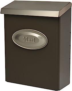 Gibraltar Mailboxes DVKPBZ00 Designer locking mailbox, Bronze w/Satin Nickel