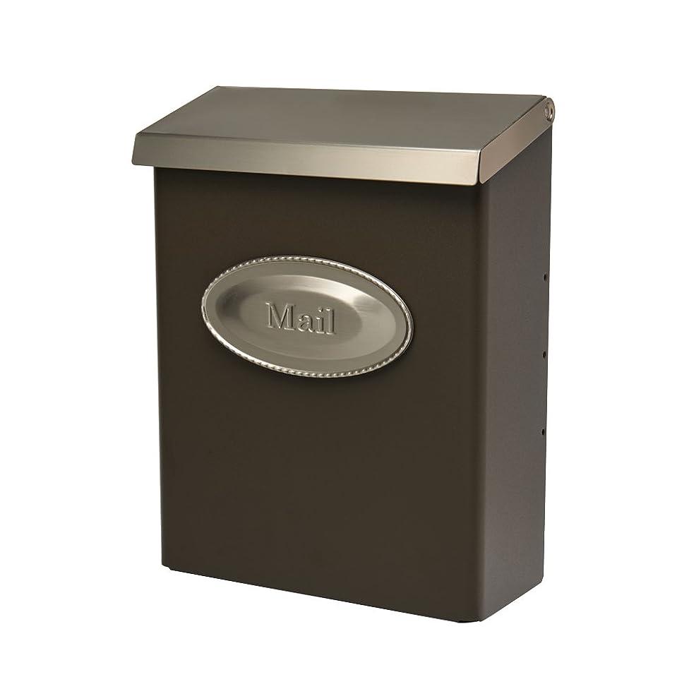 Gibraltar Mailboxes Designer Locking Medium Capacity Galvanized Steel Venetian Bronze, Wall-Mount Mailbox, DVKPBZ00