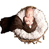 Sunmig Newborn Baby Stretch Wrap Photo Props Wrap-Baby Photography Props (Coffee)