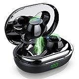 Écouteurs Bluetooth 5.0 Ecouteur sans Fil TWS Léger Stéréo, Auriculaires avec Mic, 30H Playtime, 1200mAh Etui de Charge, Réduction du Bruit, IP7 Etanche Oreillette Bluetooth Sport pour Gym/Joggin
