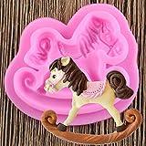 JLZK Trojanisches Pferd Spielzeug Form Fondant Backen Schokolade Silikonform Für Kuchen Dekorieren Werkzeuge Basteln Formen