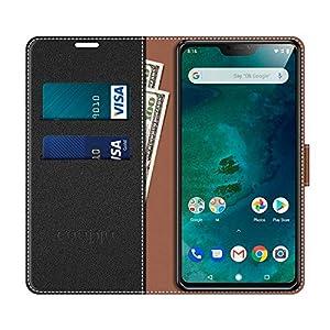 COODIO Funda Xiaomi Mi A2 Lite con Tapa, Funda Movil Xiaomi Mi A2 Lite, Funda Libro Xiaomi Mi A2 Lite Carcasa Magnético Funda para Xiaomi Mi A2 Lite, Negro