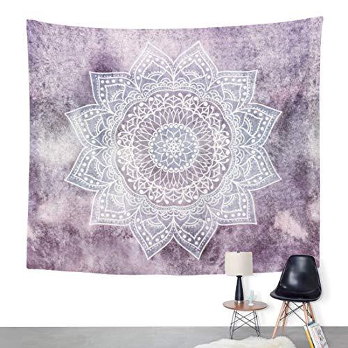 ArtSocket Tapestry Flower Elephant Bohemian Lavender Home Decor Wall Art Hanging for Living Room Bedroom Dorm 50 x 60 Inches Tapestry