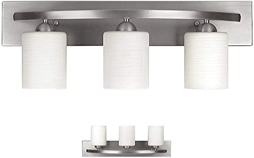 Vanity Bath Light Bar Interior Lighting Fixture Over Mirror Modern Glass Shade, Hollywood Style Wall Sconce for Makeu...