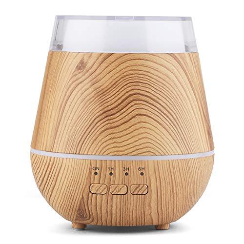 YunNasi Humidificadores Difusores de Aceites Esenciales Niebla Fría Difusor Aromaterapia 120ml Sin Agua Auto Apagado con 7Colores Luz LED para Meditación Yoga SPA Dormir (Madera Ligero)