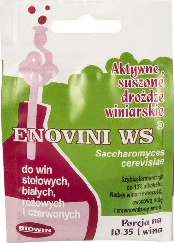 BIOWIN Weinhefe Enovini Fermicru Fermivnfür Weine Trockenhefe Weißwein Rotwein Weinhefe (ENOVINI WS)