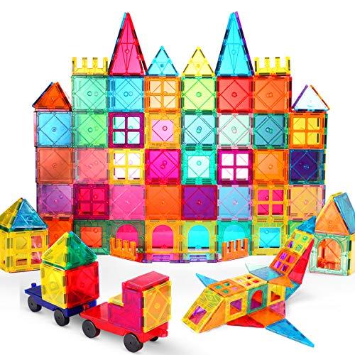 VATENIC 120PCS Kids Magnetic Tiles Building Blocks Set 3D Color Magnetic Blocks Toys for Kids Children,Educational Learning Toys Birthday Gifts for...