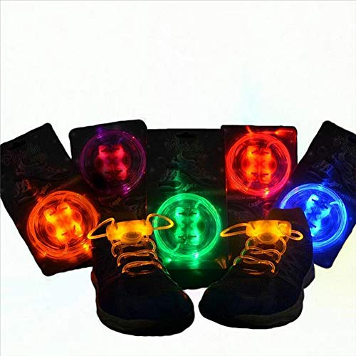 Trihedral-X Taihang 4 Pack LED schoenveter Night Run Light Safety schoenveter Multi kleuren Lichtgevende veter