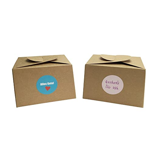 5ef08618d10 12 nbsp Boxes Made of Cardboard + 24 nbsp Gift-Wrapping Stickers for Cakes