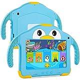 Tableta infantil de 7 pulgadas, Quad Core Android 10.0, 1 GB de RAM, 32 GB de ROM, WiFi, cámara dual, protección infantil, software infantil preinstalado, compatible con Google Play Store