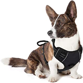 Pawaboo Dog Harness, No Pull Pet Vest Harness Adjustable Reflective Oxford Soft Padded Easy Control Handle for Outdoor Wal...