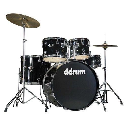 Ddrums D2 MB Set 5PC Midnight Black-Kit batteria acustica completo